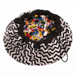 Zigzag Black - Play & Go - Toy Storage Bag